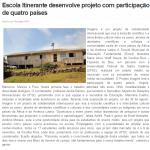 12 Notícia no ato - Escola itinerante desenvolve projeto com participação de 4 países